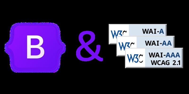 Logo Bootstrap et WCAG