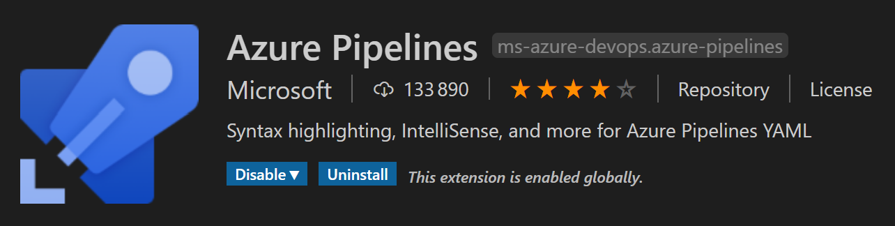 Extension Azure Pipelines pour Visual Studio Code