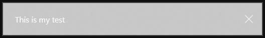 Le fond de la notification n'est pas propre